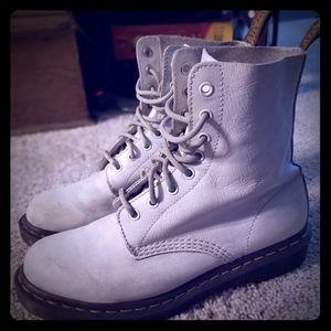 Dr Martens PASCEL White Leather Boots